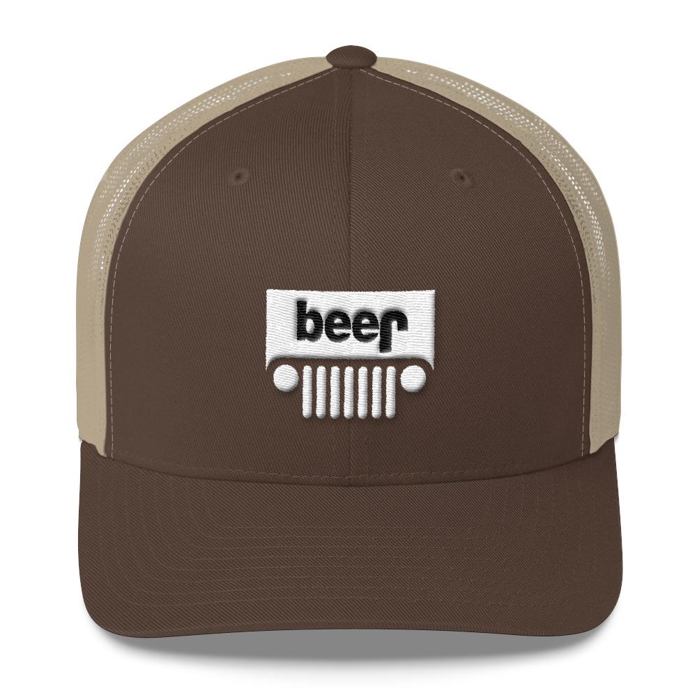 b9a13b4d Beer (Jeep) Trucker Cap – Funkie Monky