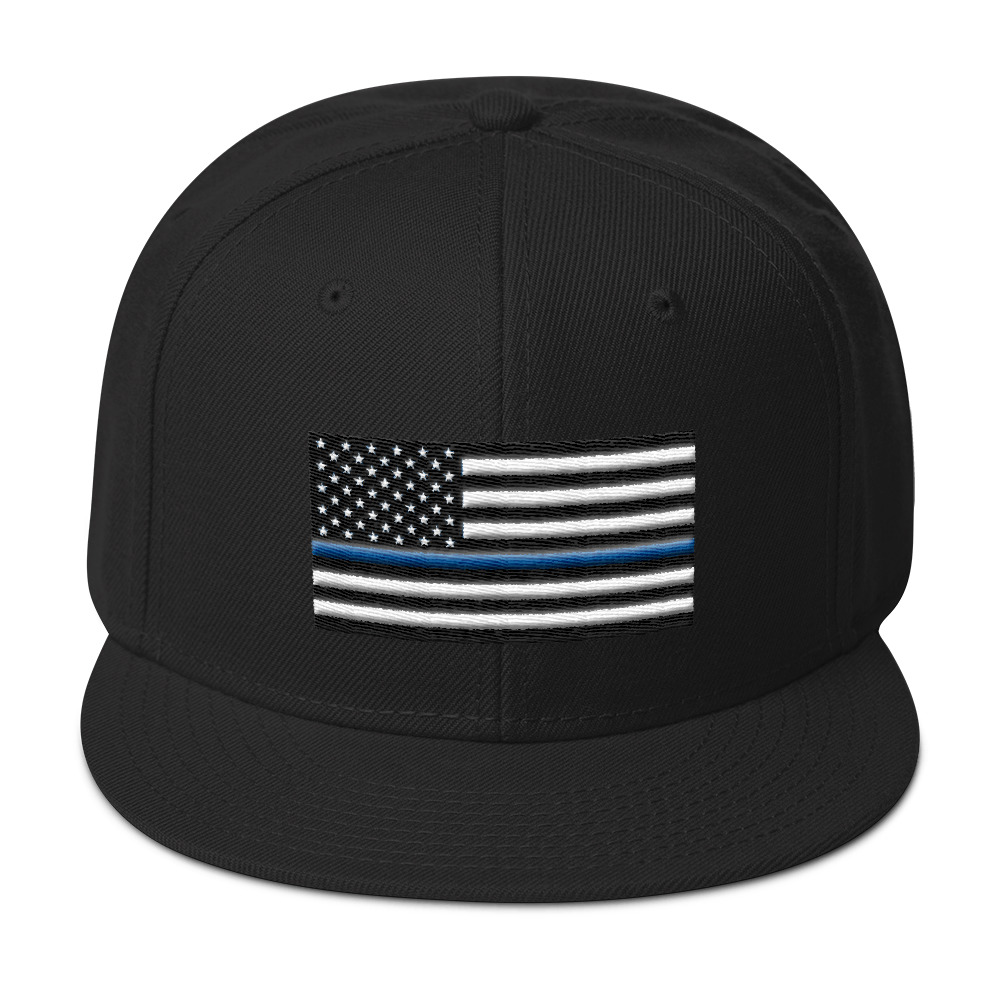 Thin Blue line American Flag Snapback Hat – Funkie Monky 57b112653d4